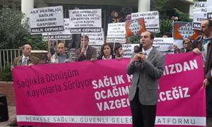 İstanbul Aile Hekimliği Uygulaması Protesto Edildi