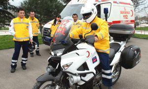 Ambulansların trafik sorununa motorize çözüm