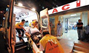 'Ambulans yok, al parmaklarını git'