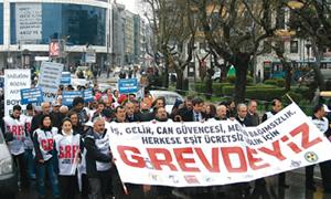 Bakan Akdağ'a 'marjinal' protesto