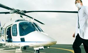 Ambulans helikopter bu kez doktor için havalandı