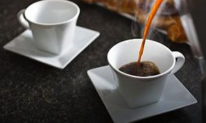 Sıcaklarda kahveyi suyla için