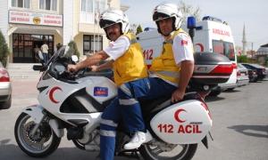 Antalya sahillerinde motorize sağlık ekibi