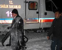 Nakil için Böbrek Taşıyan Ambulans Mahsur Kalınca Eskort Çıkartıldı