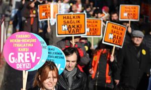 İstanbul'da Binlerce Sağlık Çalışanı GöREV'deydi