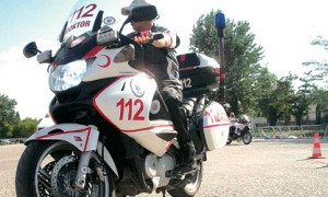 1. Uluslararası motosikletli 112 ekipleri rallisi başladı