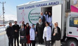 Japonya'nın hibe ettiği kanser tarama aracı, kadınlara hizmet veriyor