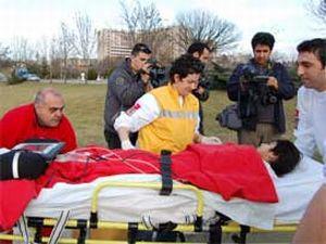 Ambulans helikopter çocuk için havalandı