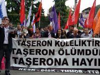 Sağlık işçilerinden taşeron protestosu