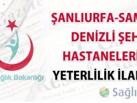 Şanlıurfa-Samsun-Denizli şehir hastaneleri ön yeterlilik (Düzeltme) ilanları
