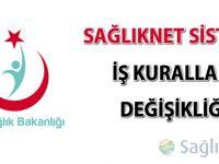 SağlıkNET sistemi iş kuralları değişikliği (24.10.2014)