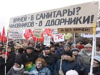 Rus doktorlar eylem yaptı
