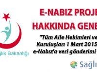 e-Nabız Projesi Hakkında Genelge