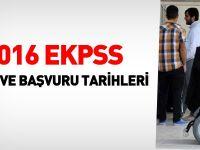 2016 EKPSS başvuru ve sınav tarihleri belli oldu
