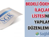 Bedeli Ödenecek İlaçlar Listesinde Yapılan Düzenlemeler Hakkında Duyuru 2020/02