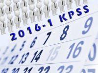 2016 yılı KPSS merkezi yerleştirme takvimine ilişkin duyuru