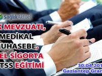 Sağlık Aktüel 30 Nisan 2016 Gaziantep Eğitimi Grand Hotel'de!