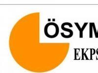 EKPSS tercih başvuruları başladı