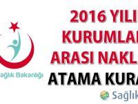 2016 Yılı 2.Dönem Kurumlar Arası Naklen Atama Kurası
