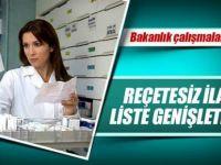 Reçetesiz ilaç listesi genişliyor