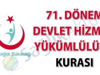 71. Dönem Devlet Hizmeti Yükümlülüğü Kurası önemli duyuru