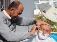 Hasta ve yaşlılara evde ücretsiz berber hizmeti