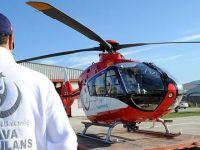Hava ambulans ekibinin zamanla yarışıyor