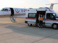 Parkinson hastası ambulans uçakla sevk edildi