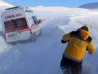 Bitlis'te karda hastayı kurtarma operasyonu