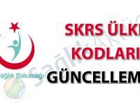 SKRS ülke kodları güncellemesi