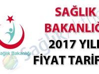 Sağlık Bakanlığı 2017 yılı fiyat tarifesi
