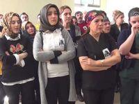 Meslektaşları hayatını kaybeden hemşire için ağladı
