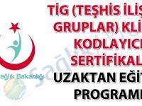 TİG (Teşhis İlişkili Gruplar) Klinik Kodlayıcı Sertifikalı Uzaktan Eğitim Programı