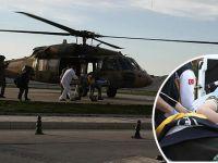 Yılanın soktuğu genç kız askeri helikopterle kurtarıldı