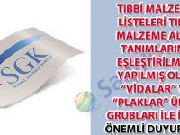 """Tıbbi malzeme listeleri tıbbi malzeme alan tanımlarına eşleştirilmesi yapılmış olan """"vidalar"""" ve """"plaklar"""" ürün grubları ile ilgili önemli duyuru-45"""