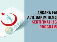 Ankara EAH Acil Bakım Hemşireliği Sertifikalı Eğitim Programı