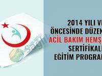 2014 yılı ve öncesinde düzenlenen acil bakım hemşireliği sertifikalı eğitim programları