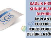 Sağlık hizmeti sunucularına duyuru (İmplante Edilebilir Kardiyoverter Defibrilatör) (ICD)