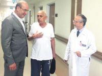 Kalbi çantasında olan hastaya mide ameliyatı