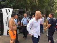 Antalya'da tur otobüsü devrildi: Yaralılar var