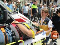 Yaralıya ilk müdahaleyi yoldan geçen hemşire yaptı