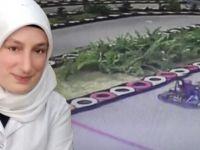 Go-kart aracına şalı dolanan genç hemşire ölümden döndü