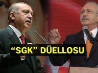 """Erdoğan ve Kılıçdaroğlu arasında """"SGK"""" polemiği devam ediyor!"""