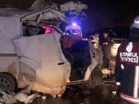 Kartal TEM bağlantı yolunda feci kaza: 1 ölü, 1 yaralı