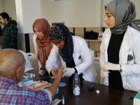 Hemşire adaylarından sağlık dokunuşu