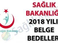 Sağlık Bakanlığı 2018 Yılı Belge Bedelleri