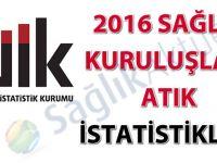 Sağlık Kuruluşları Atık İstatistikleri, 2016