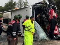 Muğla'da yolcu otobüsü devrildi: 17 yaralı