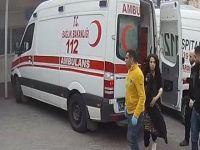 Hamile eşini dövdü, hastaneden böyle kaçtı