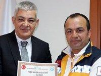 Duyarlı ambulans şoförüne teşekkür belgesi